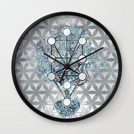 Kabbalah The Tree of Life Abalone shell and pearl Wall Clock