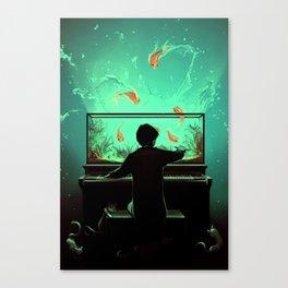 Le Pianoquarium Canvas Print