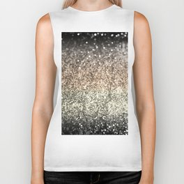 Sparkling GOLD BLACK Lady Glitter #2 #decor #art #society6 Biker Tank