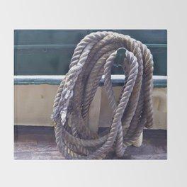 Old Rope Throw Blanket