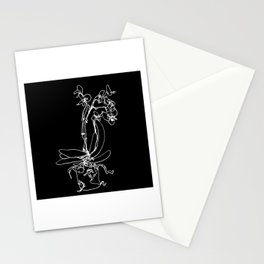 Orchid sketch Stationery Cards