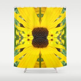 Trippy Sunflower Shower Curtain