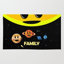 Solar System Family (to scale) Rug