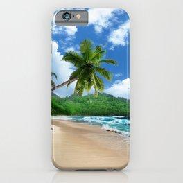 Tropical Landscape at Mahé  Island, Seychelles iPhone Case