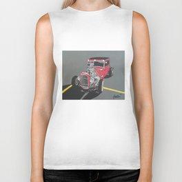 red ford hot rod painting Biker Tank
