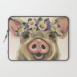 Farm Animal Art, Pig Art Laptop Sleeve