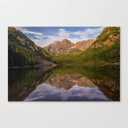 Early Summer Morning at Maroon Bells Canvas Print