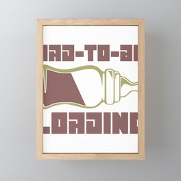 Dad to Be Loading Father's Day Gift Idea Computer Pun Framed Mini Art Print