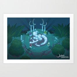 The Fallen Goddess Art Print