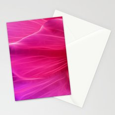 Cerise Poppy Petal Abstract Stationery Cards