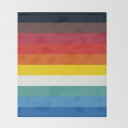 Multicolor Retro Stripes Trickster Throw Blanket