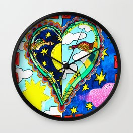 MY HEART IS FULL OF DAYS AND NIGHTS Wall Clock