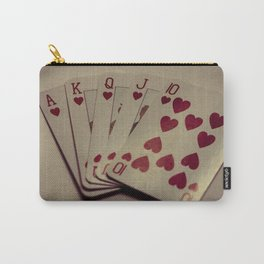 Royal Flush - Hearts Carry-All Pouch