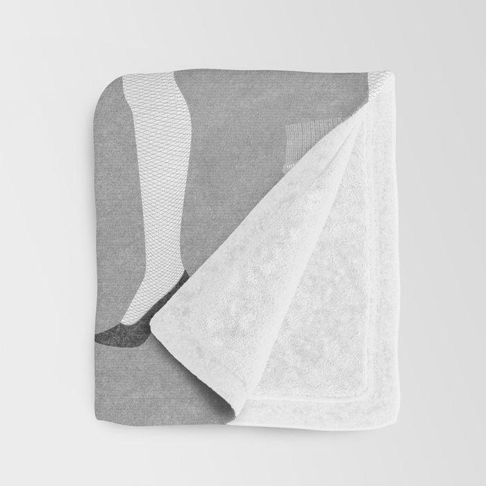 Leg Lamp Grey Throw Blanket