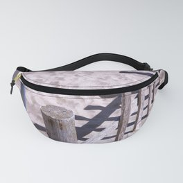 Wooden beach fences Fanny Pack