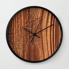 Honey-Combed Gold Tree Bark With Elegant Wooden Ridges Wall Clock