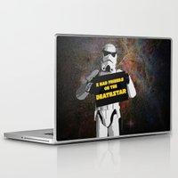 storm trooper Laptop & iPad Skins featuring Storm Trooper by ZeebraPrint