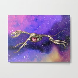 Cosmic dog skeleton Metal Print