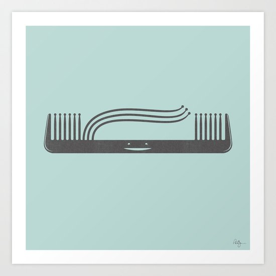Comb Over Art Print