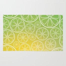Citrus slices (green/yellow) Rug