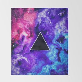Black Hole Trinity Throw Blanket