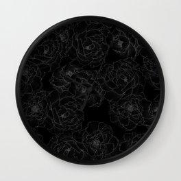 Peony Flower Pattern III Wall Clock