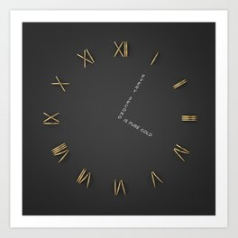 Time is Gold Art Print