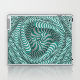 Mint green stripe illusion design Laptop & iPad Skin