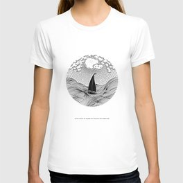 IN THE WAVES OF CHANGE WE FIND OUR TRUE DIRECTION T-shirt