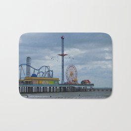 Pleasure Pier - Galveston Texas Bath Mat