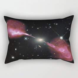 Galaxy Hercules A centered by Massive Black Hole Telescopic Photograph Rectangular Pillow