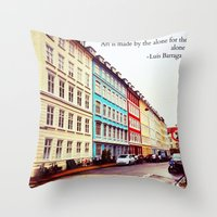 denmark Throw Pillows featuring Copenhagen Denmark by ©valourine