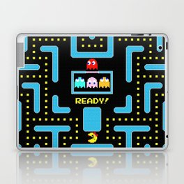 pac-man blue Laptop & iPad Skin