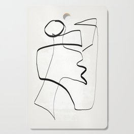 Abstract line art 6 Cutting Board
