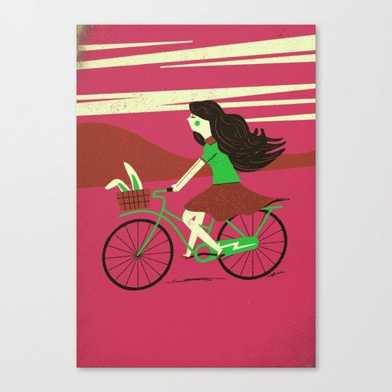 Biker Bunny Canvas Print