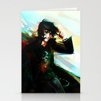 viria Stationery Cards featuring Nico di Angelo by viria