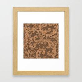 Retro Chic Swirl Butterum Framed Art Print