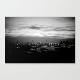 Genova in bw Canvas Print