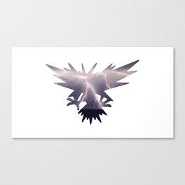 Zapdos The Legendary Bird Canvas Print