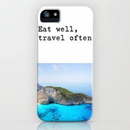 Eat well Island iPhone Case