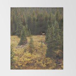 Rocky Mountain Creek Elk Throw Blanket