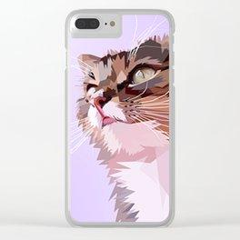 A Cat Clear iPhone Case