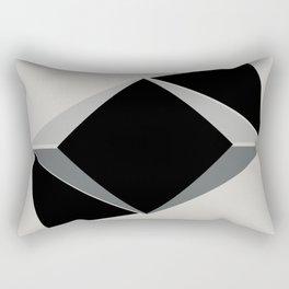 Shapes, black and grays Rectangular Pillow