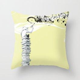 "Glue Network Print Series ""Education & Arts"" Throw Pillow"