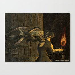 The Horror Beyond the Door Canvas Print