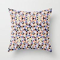 90s Throw Pillows featuring 90s geometrics by Lily Mitchell