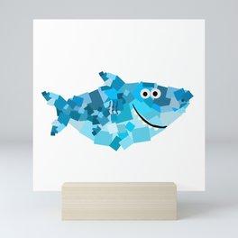 Square Daddy Shark! - Doo Doo Doo - Shark Family Mini Art Print