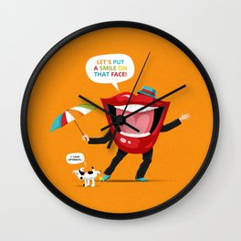 Put A Smile On Wall Clock