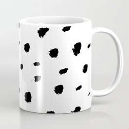 Ink Spots // Black-and-white abstract Coffee Mug