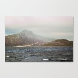 Sea landscape photography Water photo Nature print Fog poster Mood Canvas Print